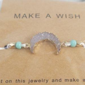 Jewelry - Druzy Moon Wish Bracelets White/Clear